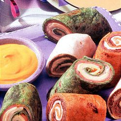 Rainbow Wrap Sandwiches are colorful way to go healthful.