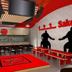 Sake Rok stage rendering Ray Designing Environments