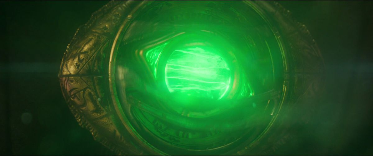 The Time Stone within the Eye of Agamotto in Doctor Strange (2016)