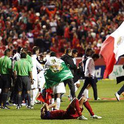 Alvaro Saborio reacts to the loss Wednesday night.