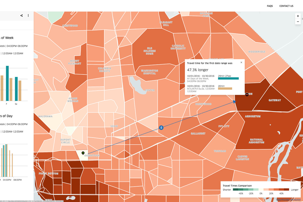 Ubers new tool gives cities a mind bogglingly detailed view of today uber launched a new tool for mapping travel times powered by the companys vast store of ride data called movement the site allows users to gumiabroncs Choice Image