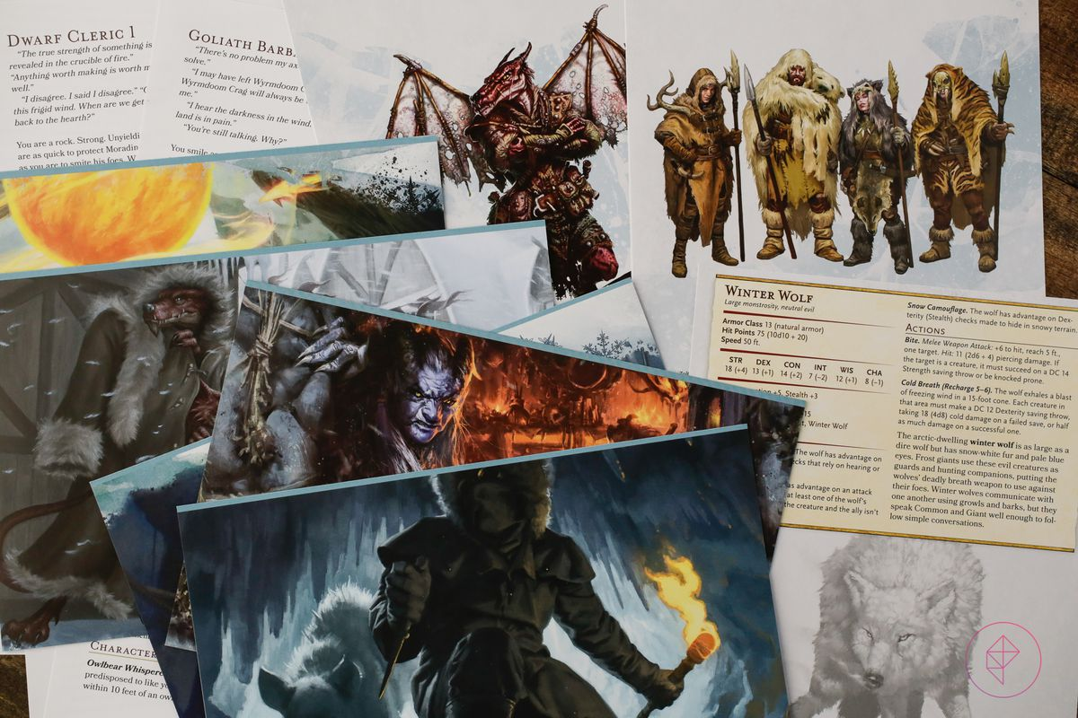 A pile of paper goods, all designed to make the lives of players and DMs easier.