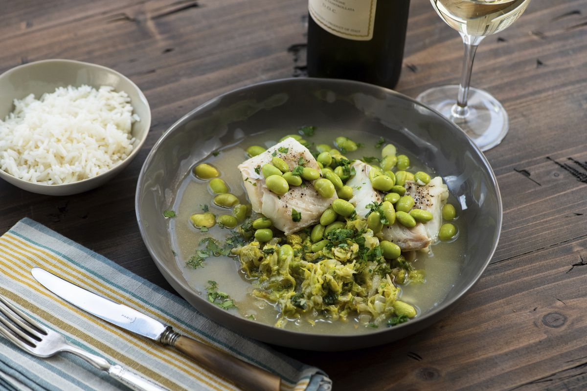 A dish of cod, cabbage and edamame is served up in a New York restaurant. The taken-for-granted vegetable, that sturdy, dense staple of many a poor, ancestral homeland, is finally getting respect.