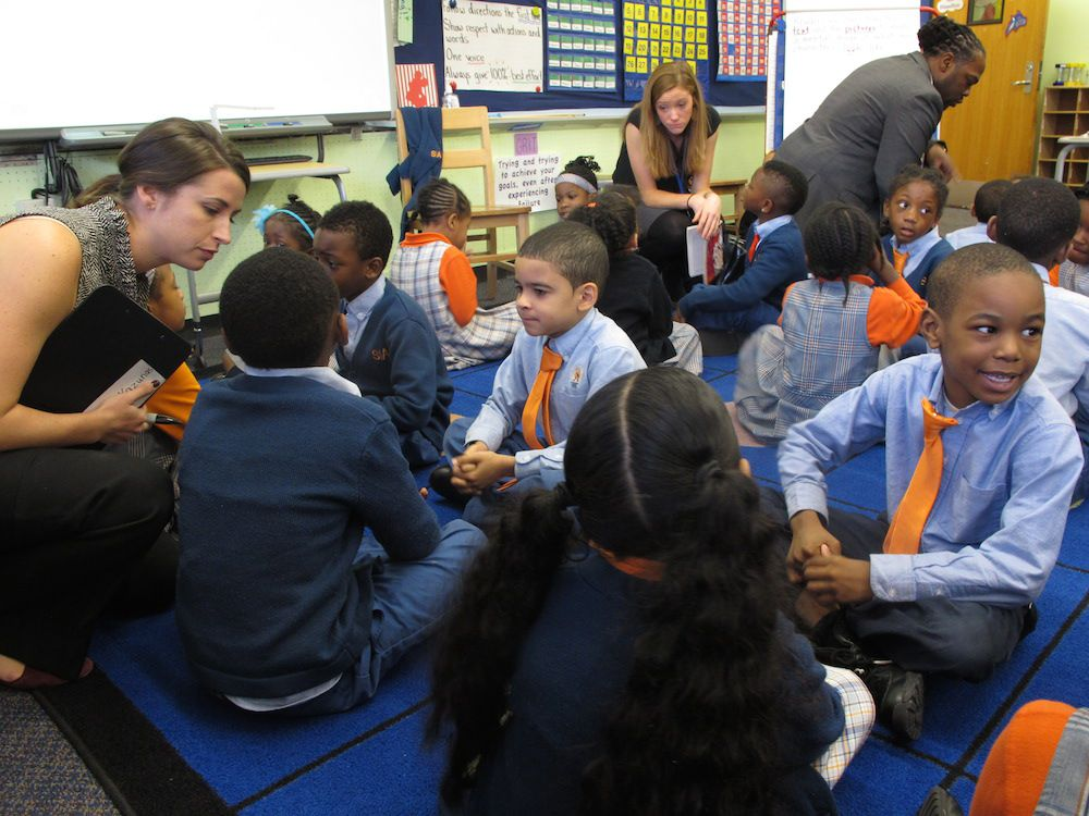 Students and faculty at Success Academy Harlem 5 in 2014.
