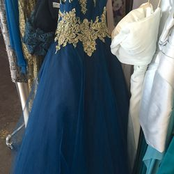 Blue gown, $1,200