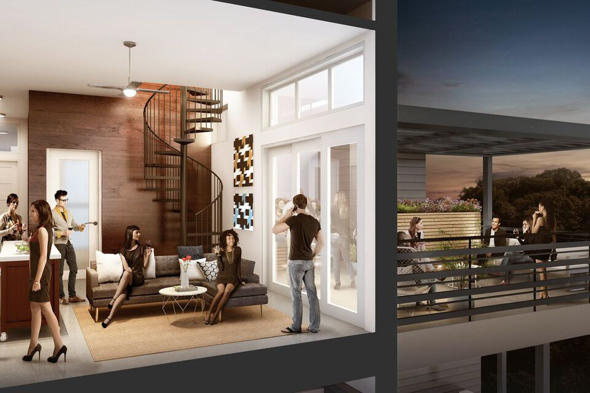 Rendering of the latest Modera apartments in Atlanta.