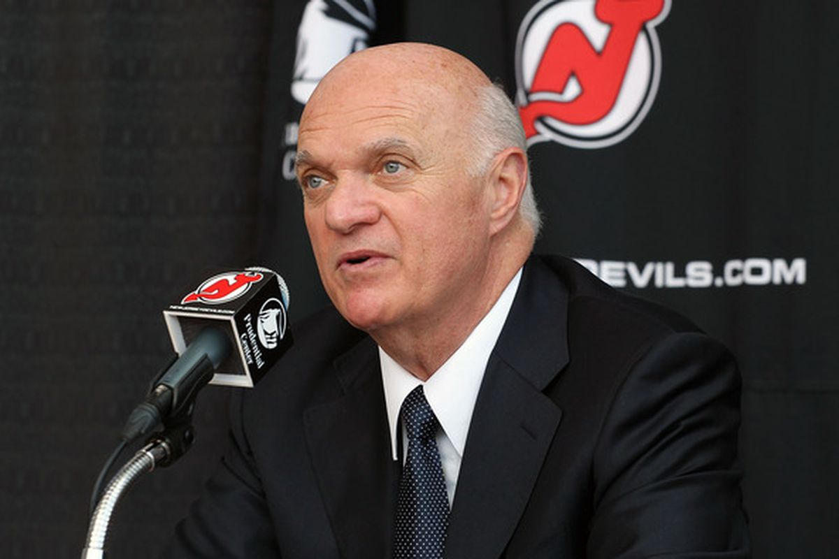 In my opinion, Lou Lamoriello needs to act as a seller at the 2011 NHL Trade Deadline.  (Photo by Andy Marlin/Getty Images)