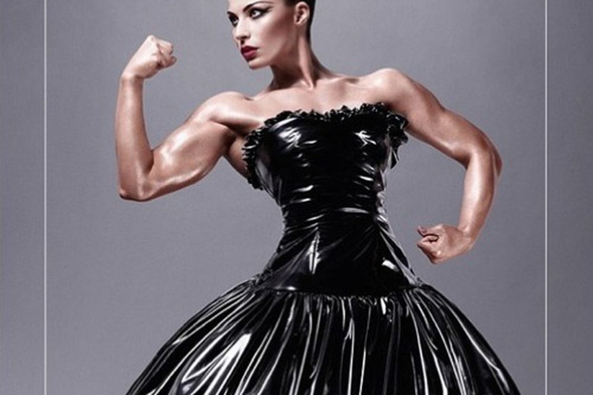 "Image via <a href=""http://www.styleite.com/beauty/mac-bodybuilder-jelena-abbou/"">Styleite</a>"