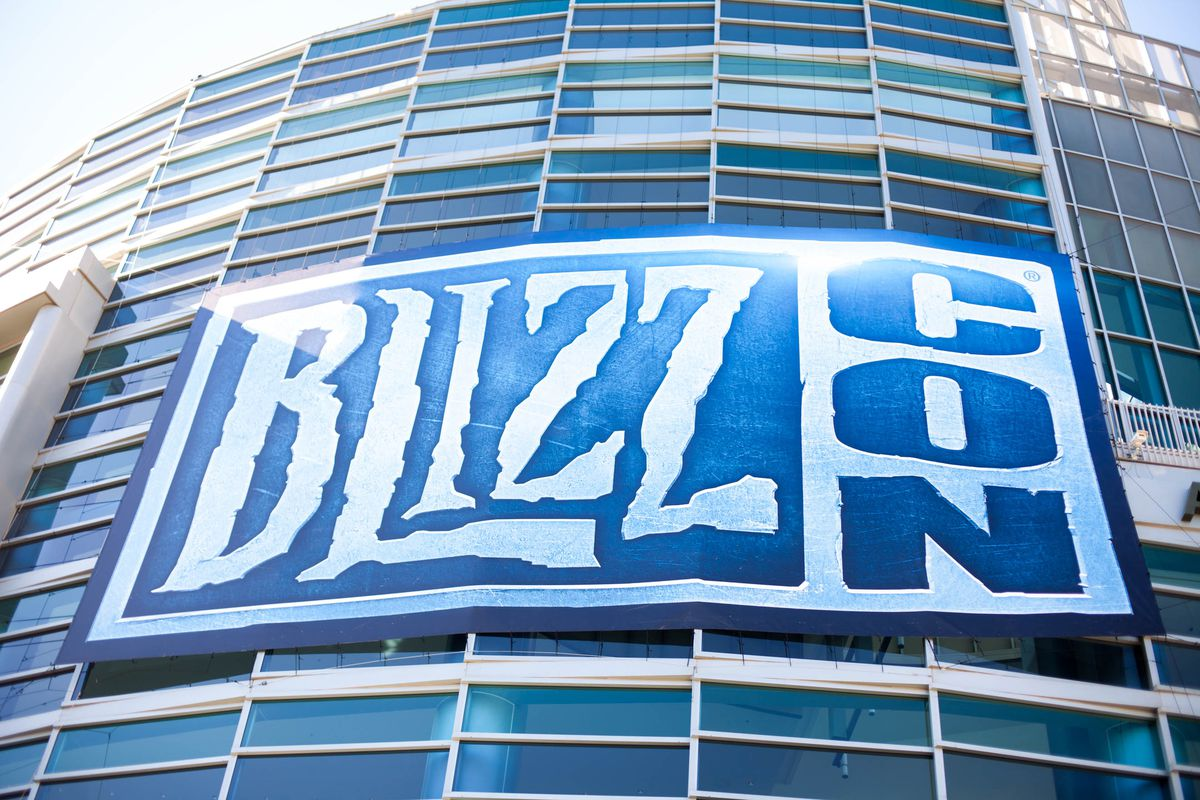 The BlizzCon sign on the Anaheim Convention Center