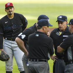 Pablo López, Marlins starting pitcher on Tuesday