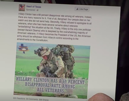 These are some of the tweets and Facebook ads Russia used to