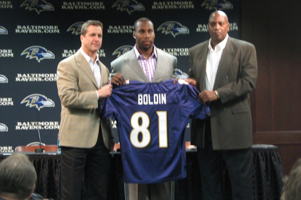 Anquan Boldin Introduced at Ravens Training Facility