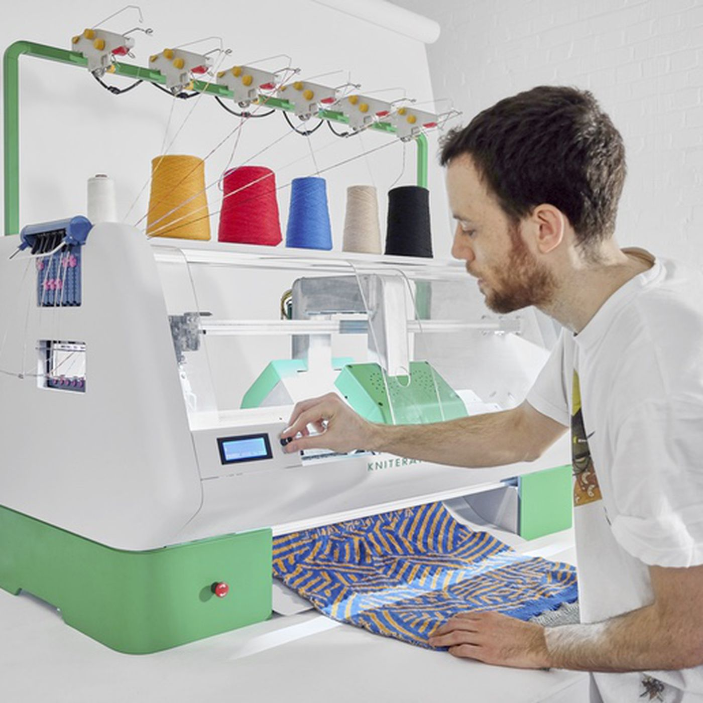 Print Out A Sweater With Kniterate A 3d Printer For Knitting The