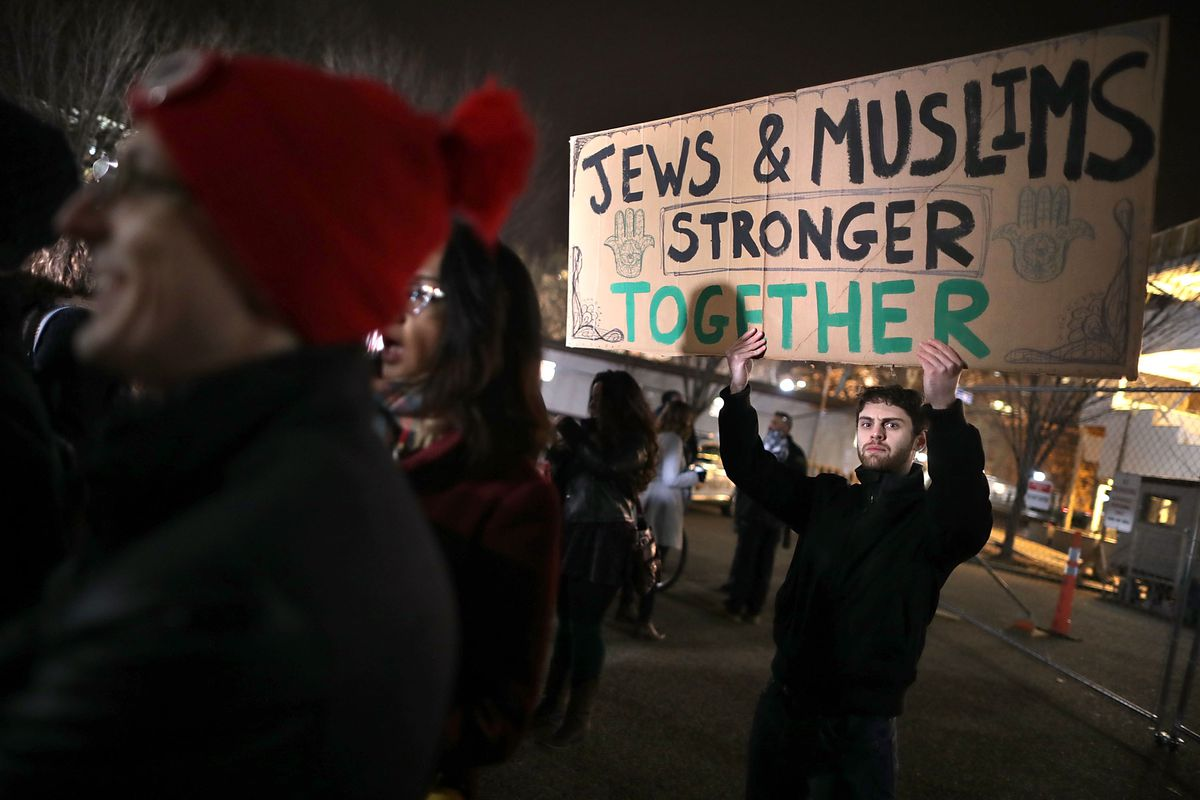 Jewish Activists Demonstrate Against Islamophobia And Racism In Front Of White House