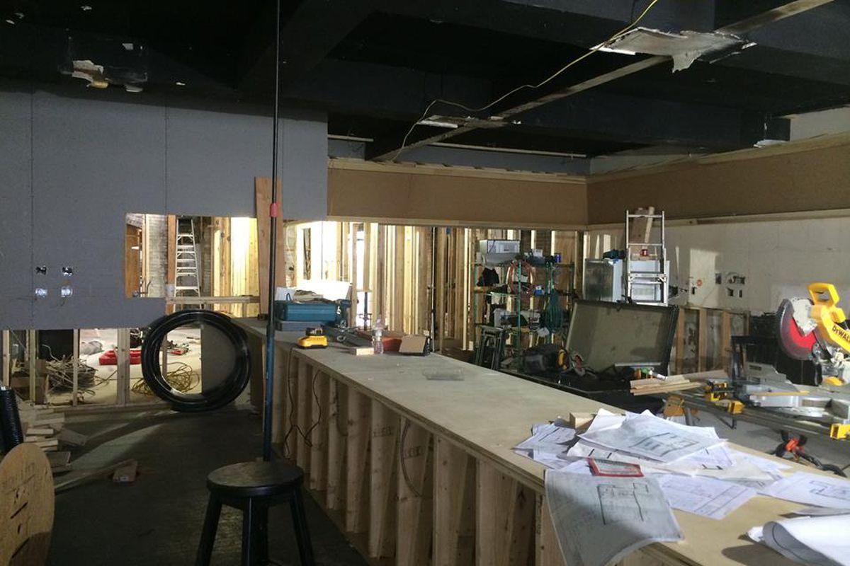Bukowksi Tavern, under construction in mid-September.