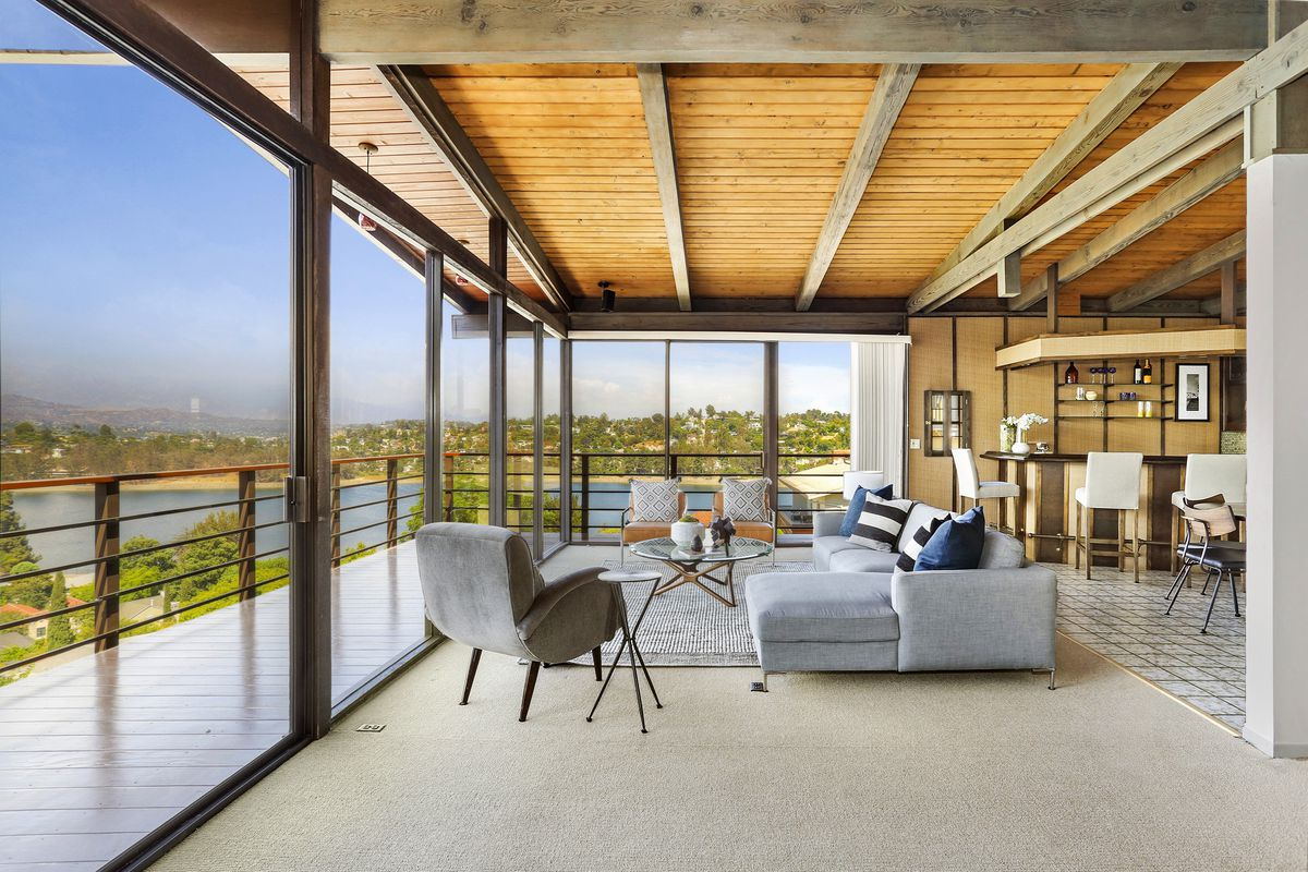 Asian inspired 70s modern overlooking the silver lake reservoir asks 2 3m