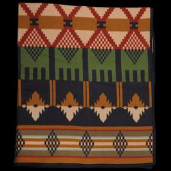 """<strong>Thomas Kay Pendleton</strong> Mission Mill Blanket in Multi, <a href=""""http://unionmadegoods.com/product/pendleton-thomas-kay-mission-mill-blanket-in-multi/"""">$239</a> at Unionmade"""