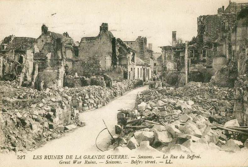 Shattered towns marked the route of the Tour of the Battlefields as it crossed the heart of the zone rouge