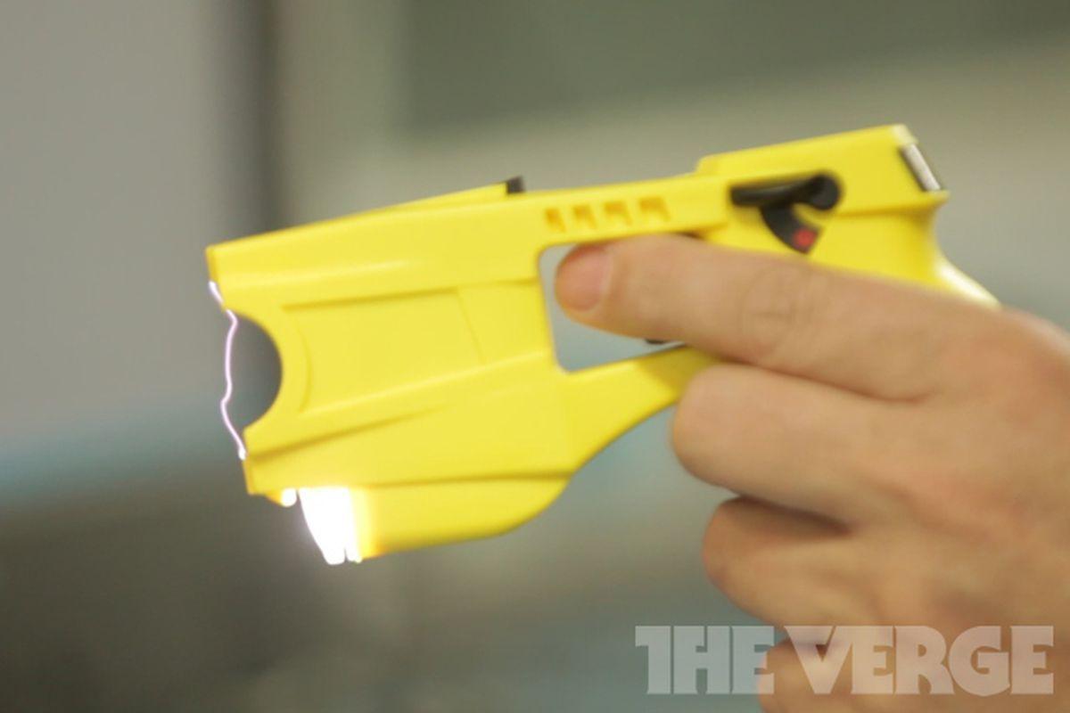 yellow taser