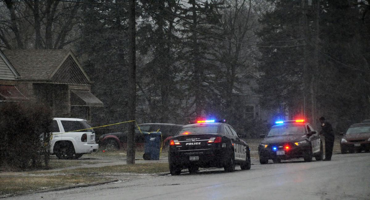 A man and woman were shot Tuesday in a targeted home invasion in Harvey. Justin Jackson/Sun-Times.