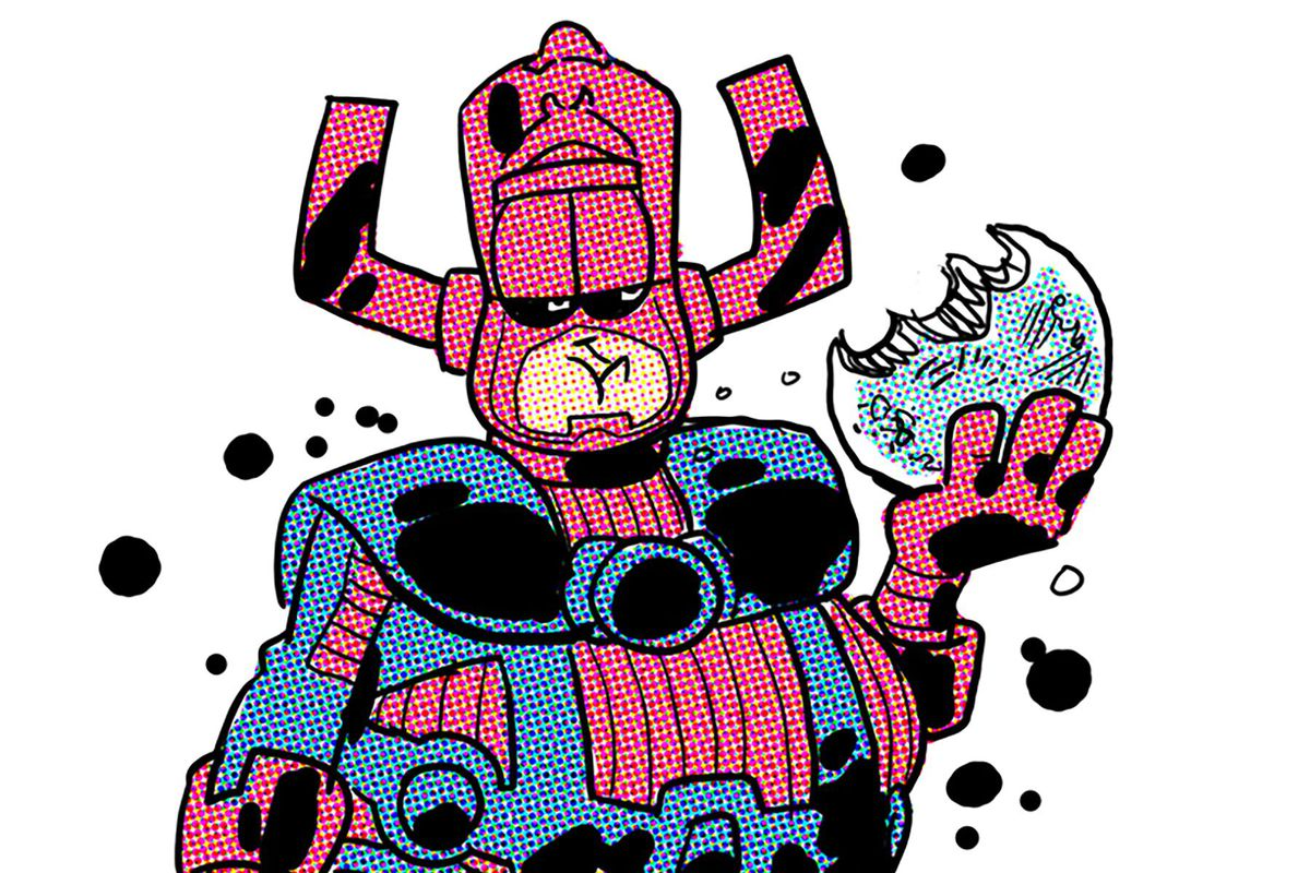 Jim Davis draws Galactus in the style of Garfield for Squirrel Girl #26