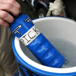 BYU gridders use pickle juice to ward off cramps during practice and games.