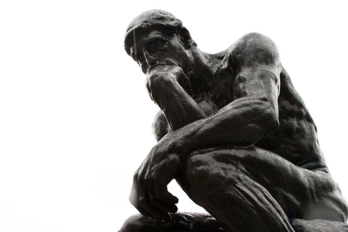 'The Thinker' by French sculptor Auguste Rodin
