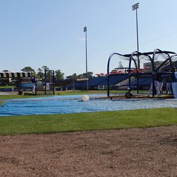 Mets in the cage