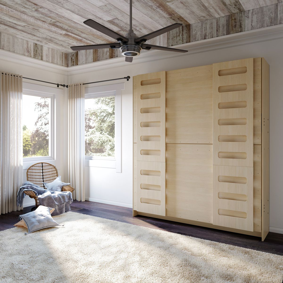 Closed murphy bed.