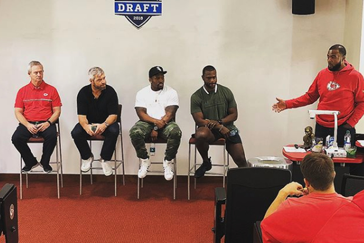a9a284c7ea2 All of the rookies on the Kansas City Chiefs roster spent the last three  days in the NFL's Rookie Transition Program, which is designed to help new  players ...