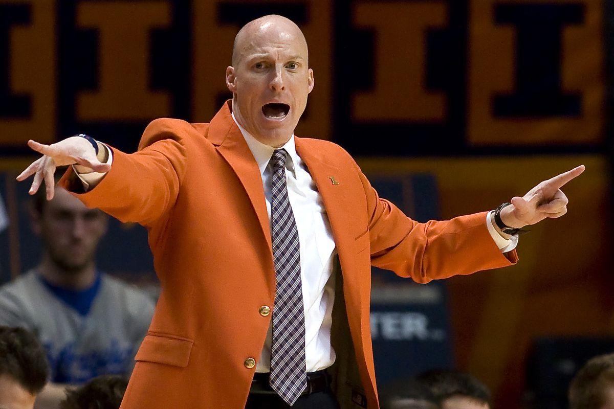 John Groce coaching at the State Farm Center
