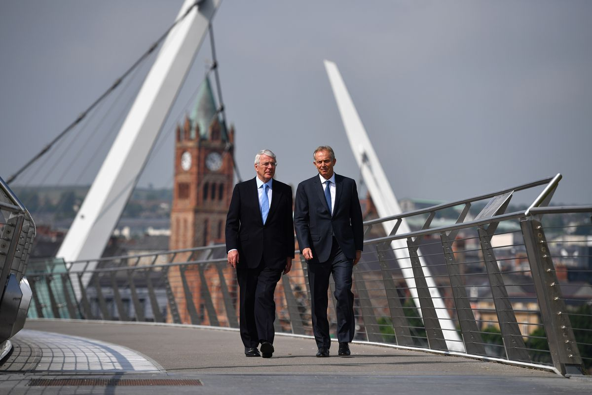 Former Prime Ministers Tony Blair And Sir John Major Unite To Back Remain Campaign