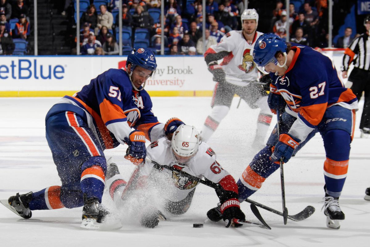 ISLANDERS. SENATORS. This time it's for half the marbles.