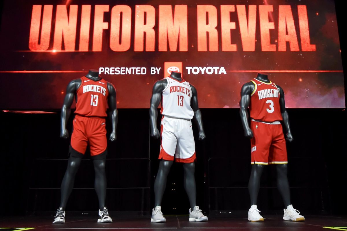 d864e19069c8 Rockets unveil new uniforms - The Dream Shake