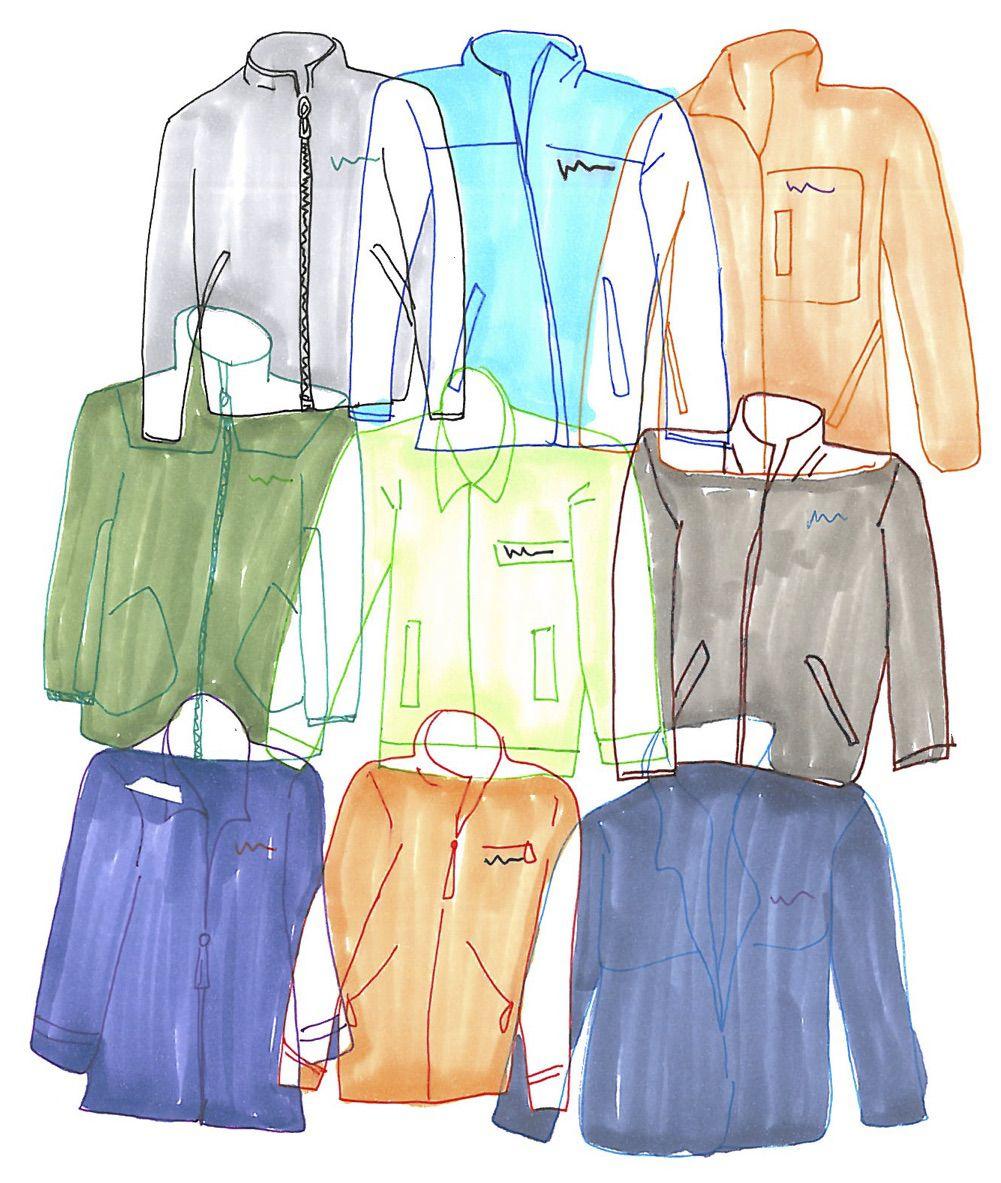An illustration of fleece jackets