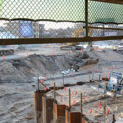 6:29 p.m. Plaza entrance construction area -