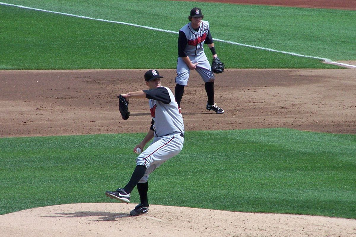 Milwaukee Brewers pitching prospect Mike Fiers (Photo by John Sickels, SB Nation)