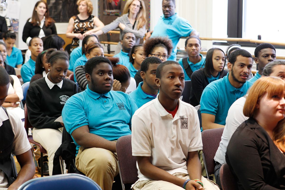 GRAMMY Career Day at Camden Creative Arts High School in Camden, New Jersey. (Photo by Mark Von Holden/WireImage for NARAS)