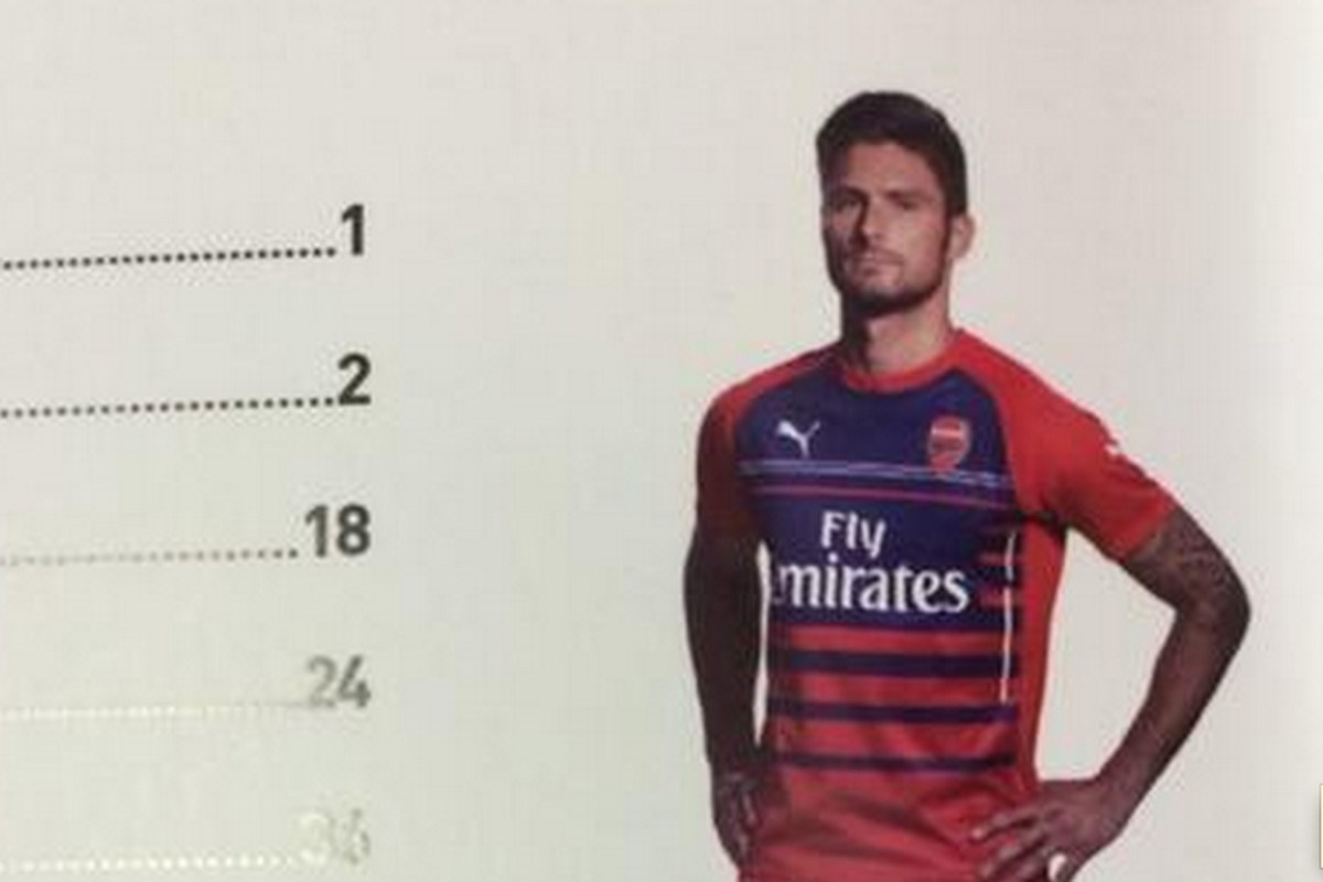 Could this be the 2014-15 Puma Arsenal catalog's table of contents page?