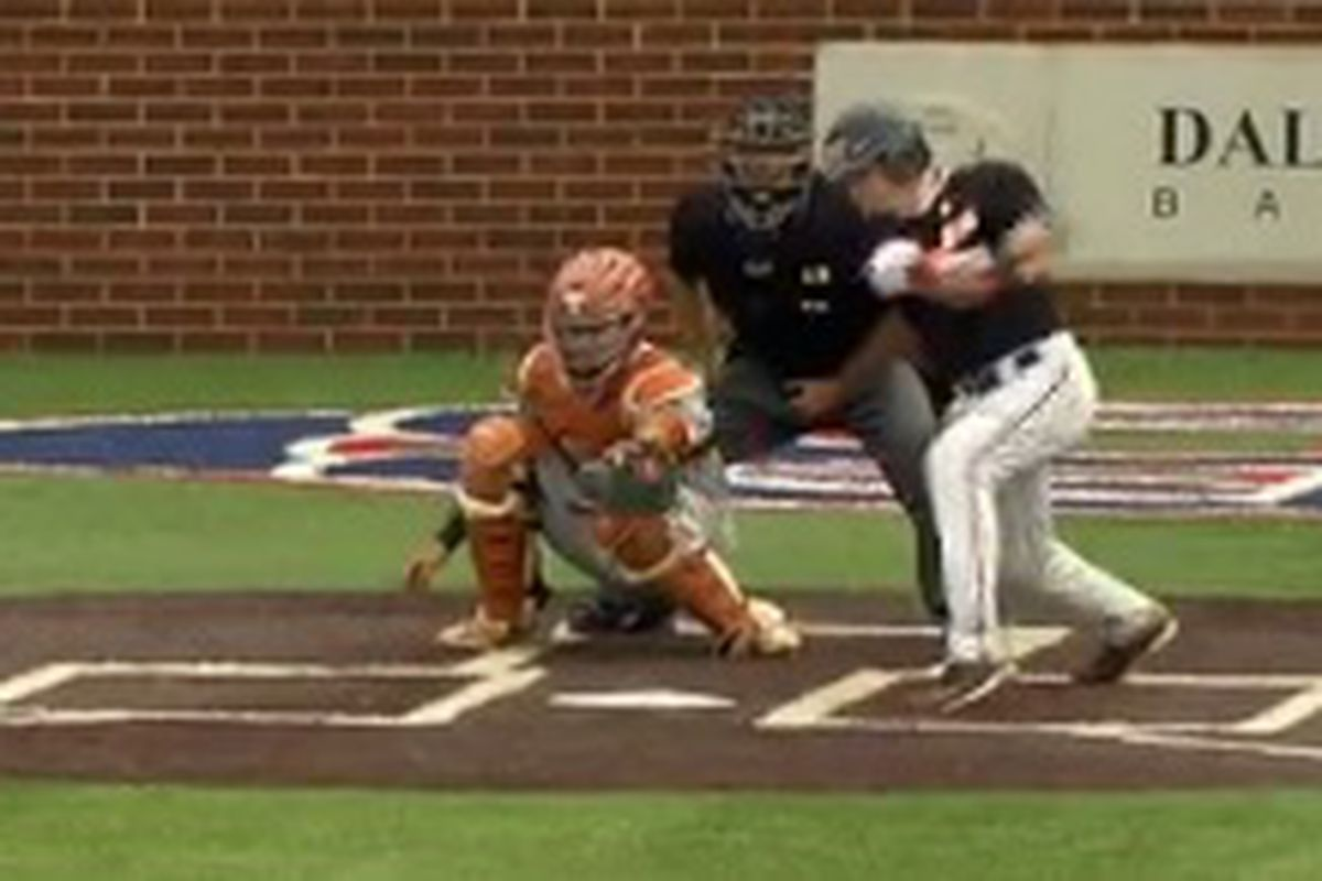 Kyle Nobach came up big with a pair of RBI hits to lead Oregon St. past Texas.