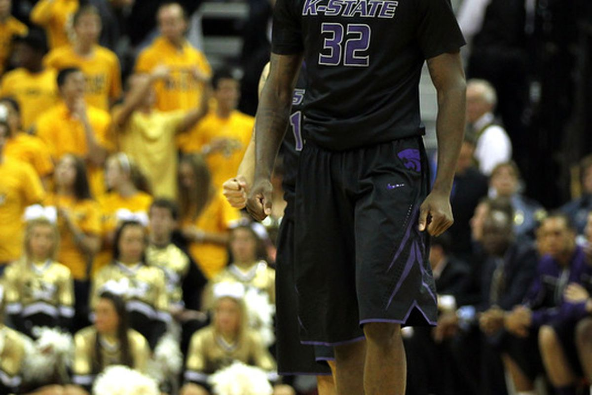 COLUMBIA, MO - FEBRUARY 21:  Jamar Samuels #32 of the Kansas State Wildcats smiles as the Wildcats defeat the Missouri Tigers to win the game on February 21, 2012 at Mizzou Arena in Columbia, Missouri.  (Photo by Jamie Squire/Getty Images)