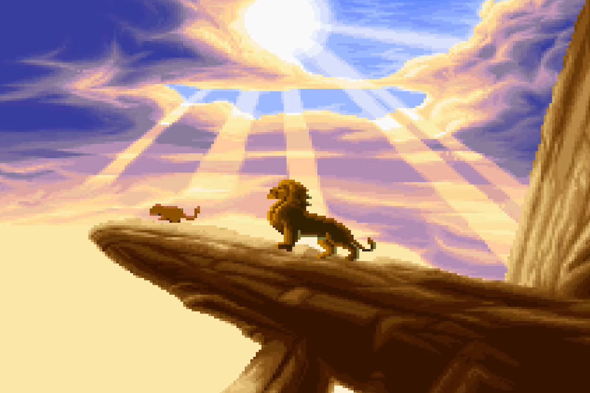 The title screen from The Lion King