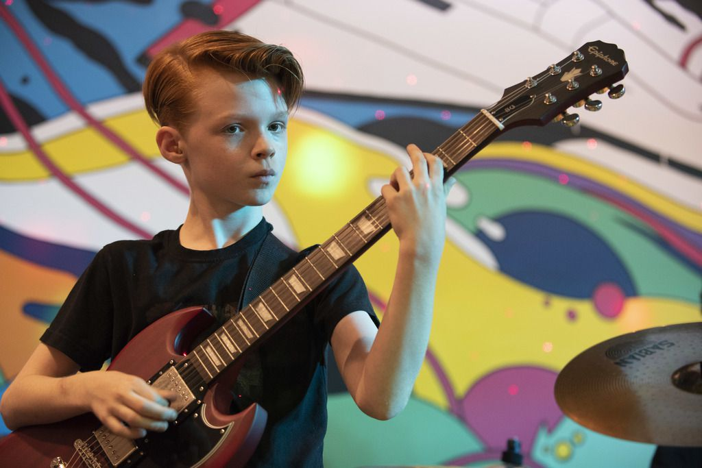 Guitarist Vincent Molden, 12, would like to see every Chicago Public Schools student have the opportunities he has with Little Kids Rock. | Colin Boyle/Sun-Times
