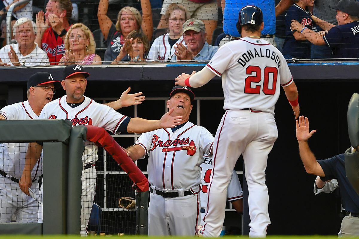MLB: AUG 21 Marlins at Braves