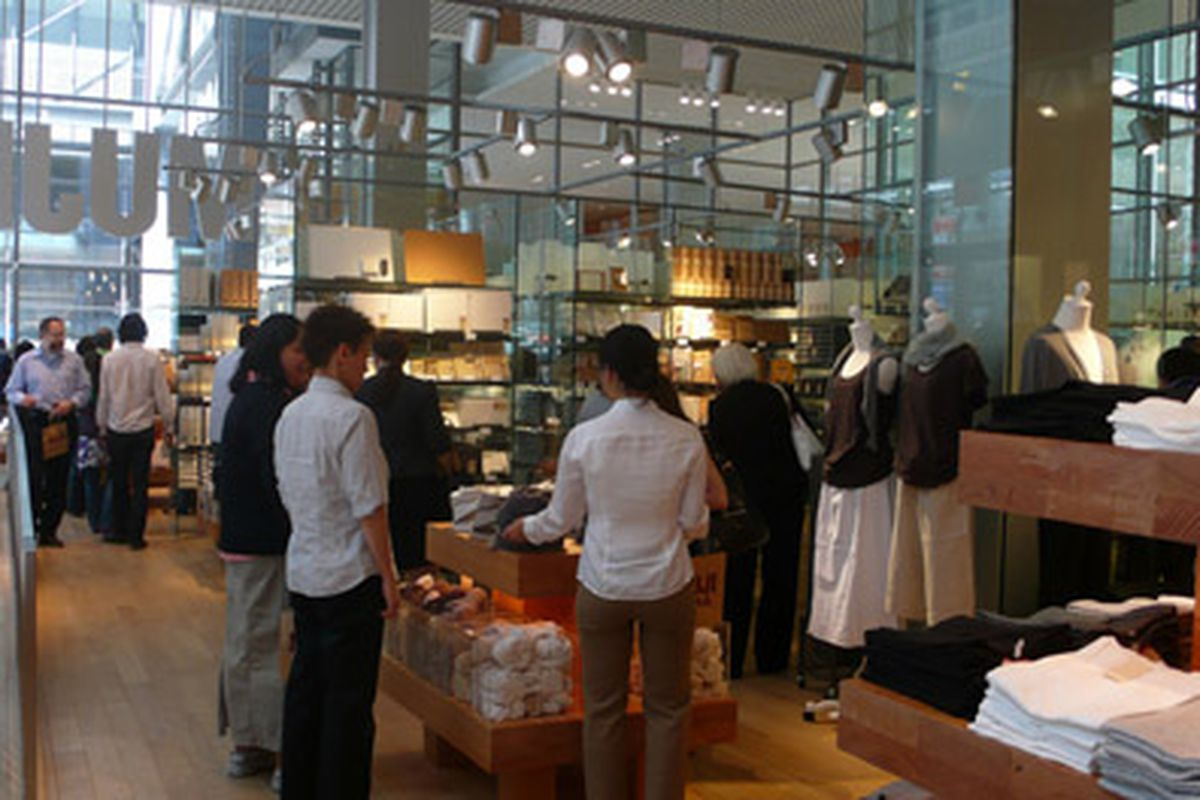 rackedwire: muji responds to returns controversy; kiosk offers a