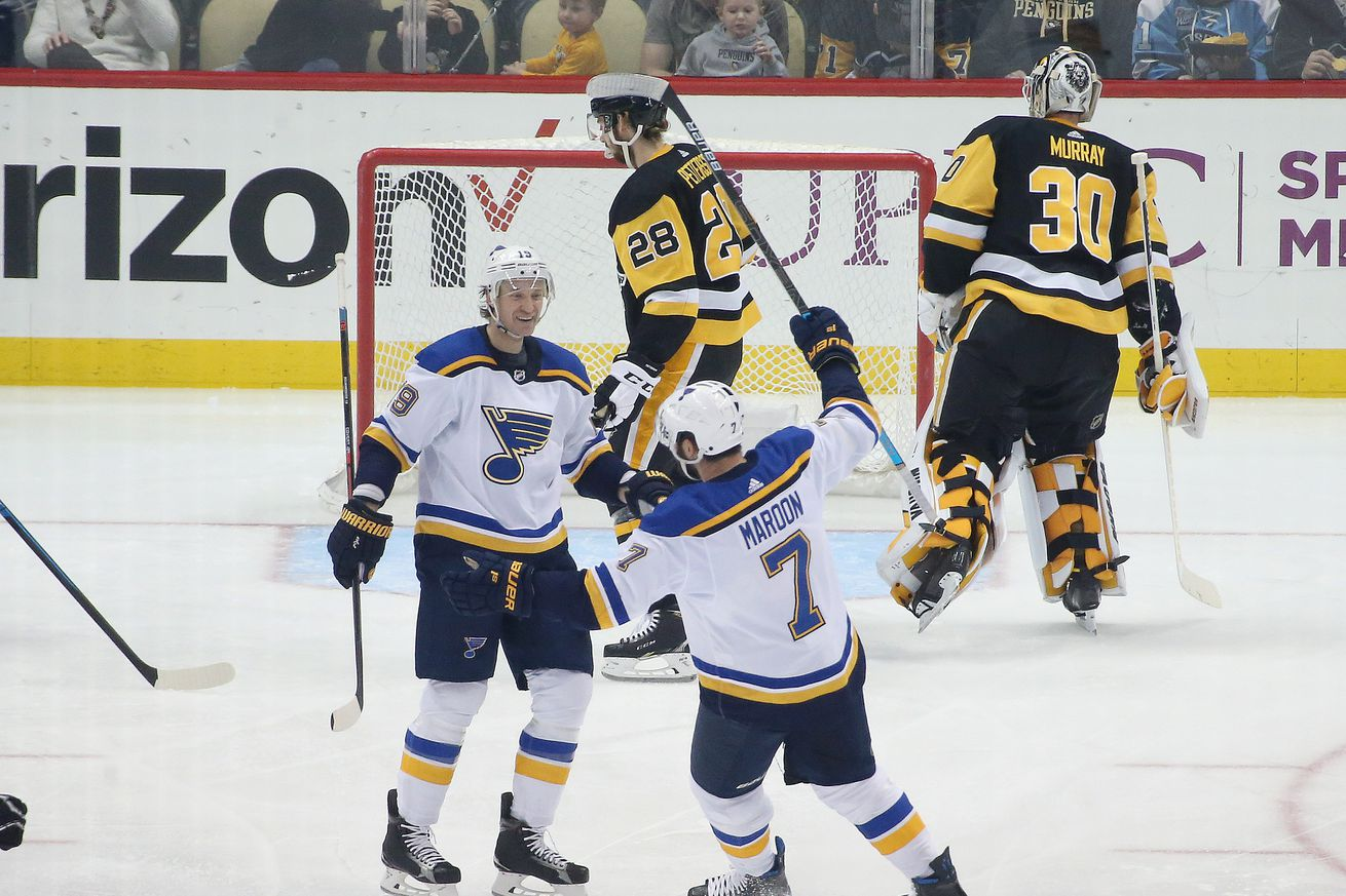 Penguins stoned by Jordan Binnington, lose to Blues 5-1 in first leg of weekend back-to-back