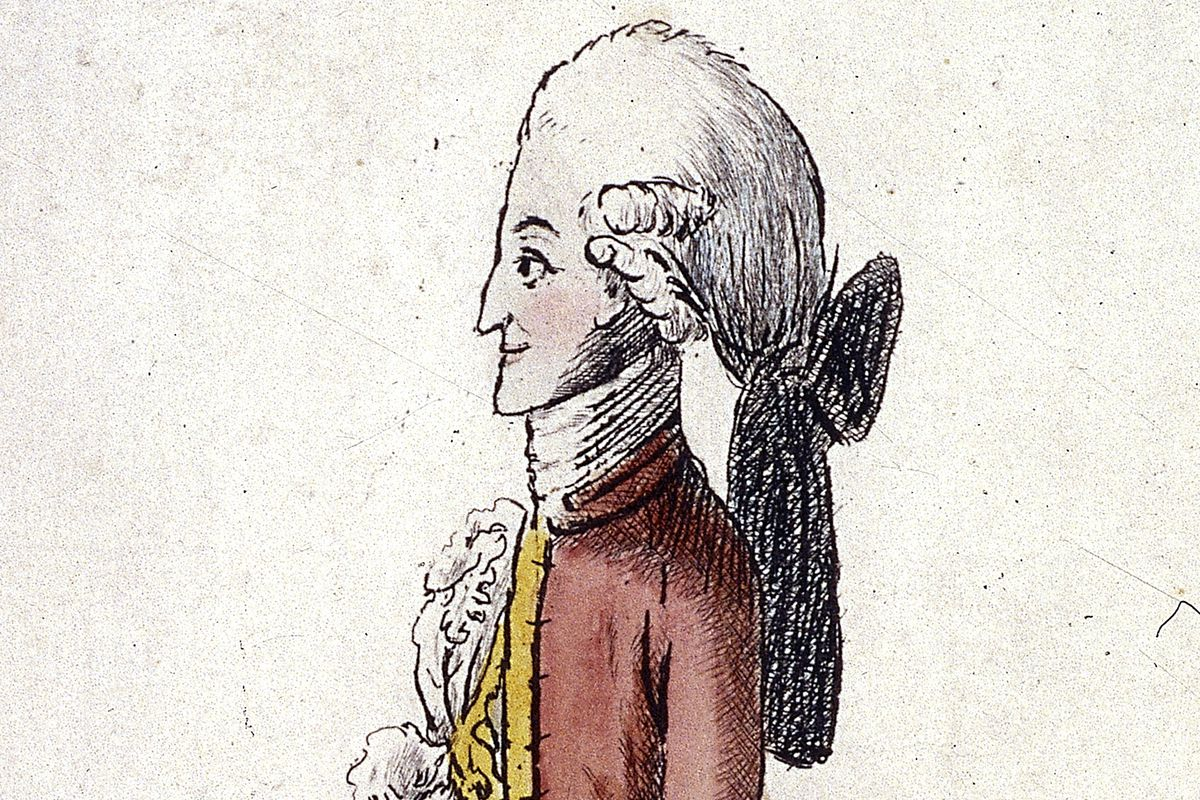 A typical macaroni, as seen in caricature