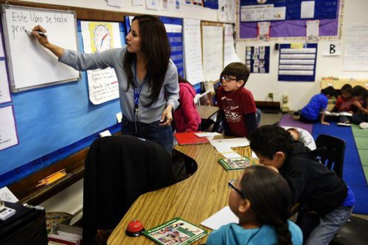A second grade class at Bryant Webster K-8 school in Denver (Joe Amon, The Denver Post).