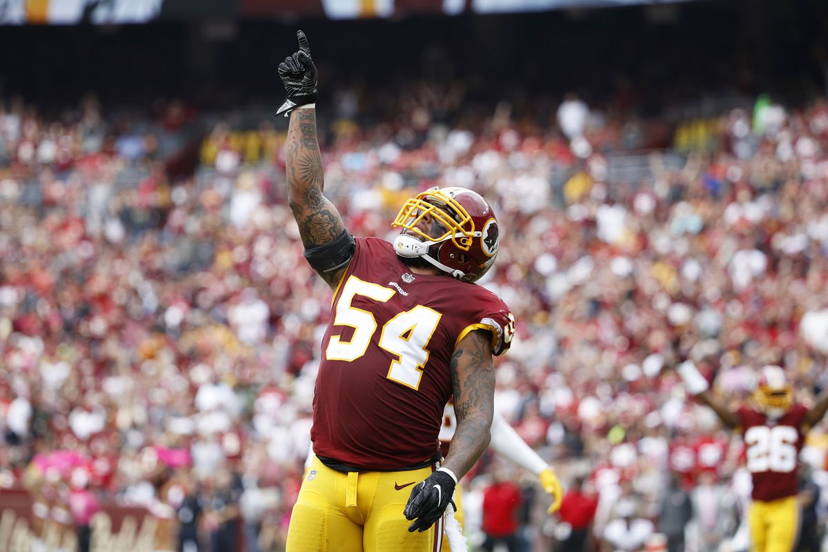 on sale 90146 fb848 Redskins Free Agency News: Mason Foster re-signed to 2-year ...