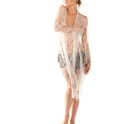 Charcot sheer lace cardigan in cream, $348